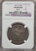Seated Half Dollars: , 1877-S 50C -- Bent -- NGC Details. AU. NGC Census: (6/392). PCGSPopulation (19/396). Mintage: 5,356,000. Numismedia Wsl. P...
