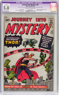Journey Into Mystery #83 (Marvel, 1962) CGC Apparent VG/FN 5.0 Extensive (P) Cream to off-white pages