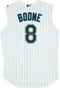 Baseball Collectibles:Uniforms, 2007 Brett Boone Game Worn Signed Florida Marlins Throwback Jersey MLB Authenticated....