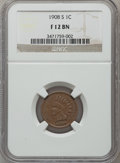 Indian Cents: , 1908-S 1C Fine 12 NGC. NGC Census: (102/2784). PCGS Population(139/2077). Mintage: 1,115,000. Numismedia Wsl. Price for pr...