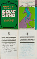 Books:Science Fiction & Fantasy, Philip Jose Farmer. Group of Four Adult First Printing Mass MarketPaperbacks, Two Inscribed. Various, 1968-1970. A Feas... (Total:4 Items)