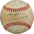 Baseball Collectibles:Balls, 1956 New York Yankees Team Signed Baseball With Mantle. ...