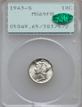 Mercury Dimes: , 1943-S 10C MS65 Full Bands PCGS. CAC. PCGS Population (848/876).NGC Census: (143/559). Mintage: 60,400,000. Numismedia Wsl...