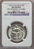 Commemorative Silver: , 1936-D 50C San Diego -- Obv Improperly Cleaned -- NGC Details. UNC.NGC Census: (0/2618). PCGS Population (1/6922). Mintage...