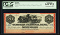 Obsoletes By State:Montana, Helena, MT- Peoples National Bank $20 Remainder. ...
