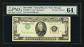 Error Notes:Inverted Third Printings, Fr. 2060-G $20 1950A Federal Reserve Note. PMG Choice Uncirculated64. . ...