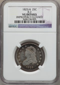 Bust Quarters, 1825/4 25C -- Improperly Cleaned -- NGC Details. VG. B-2. NGCCensus: (3/107). PCGS Population (6/256). Numismedia Wsl. P...