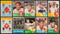 Baseball Cards:Sets, 1963 Topps Baseball Partial Set (346/576) With 35 High Numbers ....