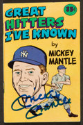 Baseball Collectibles:Others, Mickey Mantle Signed Pamphlet....