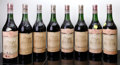 Red Bordeaux, Chateau Haut Brion 1964 . Pessac-Leognan. 2(4cm), 3(3cm),8lbsl, 1cc, 1sdc, different importers. Bottle (8). ... (Total: 8Btls. )