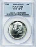 SMS Kennedy Half Dollars, 1966 50C SMS --Double Die Obverse-- SP65 PCGS. PCGS Population(304/1869). NGC Census: (55/202). Mintage: 2,200,000. Numism...