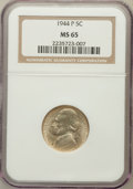 Jefferson Nickels: , 1944-P 5C MS65 NGC. NGC Census: (162/2498). PCGS Population(838/1030). Mintage: 119,150,000. Numismedia Wsl. Price for pro...