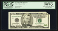 Error Notes:Foldovers, Fr. 2126-C $50 1996 Federal Reserve Note. PCGS Choice About New58PPQ.. ...