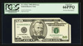 Error Notes:Foldovers, Fr. 2126-C $50 1996 Federal Reserve Note. PCGS Gem New 66PPQ.. ...