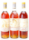 White Bordeaux, Chateau d'Yquem 1966 . Sauternes. 2bn, 3hwasl, rich ambercolor. Bottle (3). ... (Total: 3 Btls. )