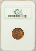 Indian Cents, 1873 1C Open 3 MS65 Red and Brown NGC....