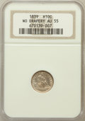 Seated Half Dimes: , 1839 H10C No Drapery AU55 NGC. NGC Census: (12/246). PCGSPopulation (11/191). Mintage: 1,069,150. Numismedia Wsl. Pricefo...