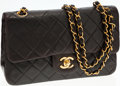 Luxury Accessories:Bags, Chanel Black Lambskin Leather Small Double Flap Bag with Gold Hardware. ...