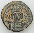 Ancients:Byzantine, Ancients: BYZANTINE EMPIRE. Justinian I the great (AD 527-565). Æfollis (17.87 gm). ...