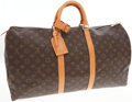 Luxury Accessories:Travel/Trunks, Louis Vuitton Classic Monogram Canvas Keepall 55cm Weekender Bag. ...