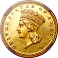 Proof Gold Dollars, 1867 G$1 PR66 Cameo NGC....