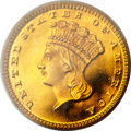 Proof Gold Dollars, 1862 G$1 PR65 Deep Cameo PCGS....