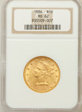 Liberty Eagles: , 1886 $10 MS62 NGC. NGC Census: (114/34). PCGS Population (92/36).Mintage: 236,160. Numismedia Wsl. Price for problem free ...