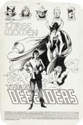 Original Comic Art:Splash Pages, Don Perlin and Kim DeMulder The Defenders #138 Splash Page 1Original Art (Marvel, 1984)....