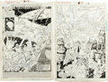 Original Comic Art:Splash Pages, Don Perlin and Keith Williams The Transformers #17 SplashPage 1 and 9 Original Art (Marvel, 1986)....