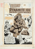 Original Comic Art:Covers, Warfront #36 Dynamite Joe Cover Original Art (Harvey,1965)....