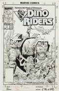 Original Comic Art:Covers, Don Perlin and Danny Bulanadi Dino Riders #1 Cover OriginalArt (Marvel, 1989)....