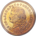 Proof Four Dollar Gold Pieces, 1879 $4 Flowing Hair, Judd-1635, Pollock-1833, R.3, PR62 PCGS....