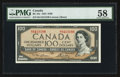 Canadian Currency: , BC-43c $100 1954. ...
