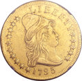 Early Eagles, 1795 $10 13 Leaves -- Reverse Repaired, Cleaned -- NGC Details. AU.BD-1, High R.3....