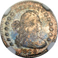 Early Half Dimes, 1800 H10C -- Struck Twice, Rotated in Collar -- MS63 NGC. V-1,LM-1, R.3....