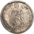 Seated Dimes, 1874-CC 10C Arrows XF40 PCGS Secure....