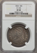 Bust Half Dollars: , 1824 50C XF40 NGC. O-105. NGC Census: (60/700). PCGS Population(86/707). Mintage: 3,504,954. Numismedia Wsl. Price for pr...