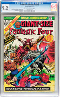 Bronze Age (1970-1979):Superhero, Giant-Size Fantastic Four #3 (Marvel, 1974) CGC NM- 9.2 Off-whiteto white pages....