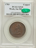 Colonials: , 1783 1C Washington & Independence Cent, Small Military Bust,Engrailed Edge XF40 PCGS. CAC. PCGS Population (7/24). NGC Cen...