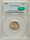Seated Dimes: , 1884 10C MS65 PCGS. CAC. PCGS Population (54/55). NGC Census:(67/64). Mintage: 3,365,505. Numismedia Wsl. Price for proble...