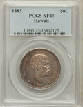 Coins of Hawaii: , 1883 50C Hawaii Half Dollar XF45 PCGS. PCGS Population (72/419).NGC Census: (40/303). Mintage: 700,000. ...