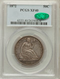 Seated Half Dollars: , 1872 50C XF40 PCGS. CAC. PCGS Population (9/69). NGC Census:(2/53). Mintage: 880,600. Numismedia Wsl. Price for problem fr...