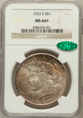 Peace Dollars: , 1922-S $1 MS64+ NGC. CAC. NGC Census: (1762/271). PCGS Population(1804/294). Mintage: 17,475,000. Numismedia Wsl. Price fo...