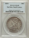 Bust Half Dollars: , 1834 50C Small Date, Small Letters XF45 PCGS. PCGS Population(157/580). ...