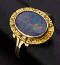 Estate Jewelry:Rings, Opal Doublet With Gold Nugget 18k Gold Ring. ...