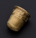Estate Jewelry:Other , Fancy 14k Gold Thimble. ...