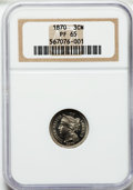 Proof Three Cent Nickels: , 1870 3CN PR65 NGC. NGC Census: (78/18). PCGS Population (60/8).Mintage: 1,000. Numismedia Wsl. Price for problem free NGC/...