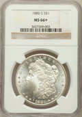 Morgan Dollars: , 1880-S $1 MS66+ NGC. NGC Census: (11838/3551 and 345/136+). PCGS Population: (11166/2610 and 524/359+). MS66. Mintage 8,900...