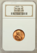 Lincoln Cents: , 1949 1C MS66 Red NGC. NGC Census: (483/36). PCGS Population(343/8). Mintage: 217,775,008. Numismedia Wsl. Price for proble...