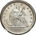 Seated Quarters, 1838 25C No Drapery MS65 NGC....